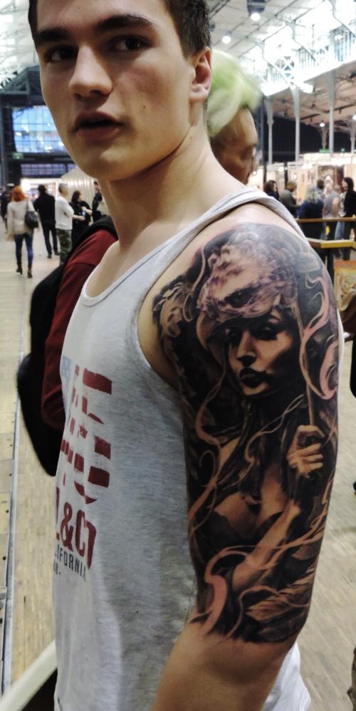 Tatouage de Carlos Torres,3eme prix Mondial du tatouage 2015