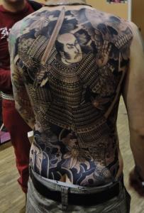 Tatouage de Mathias Bugo, 1er prix Mondial du tatouage 2015