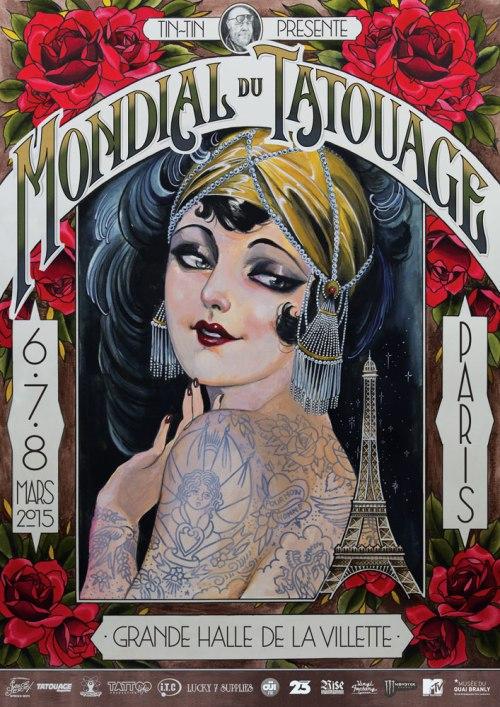 mondial du tatouage 2015 affiche