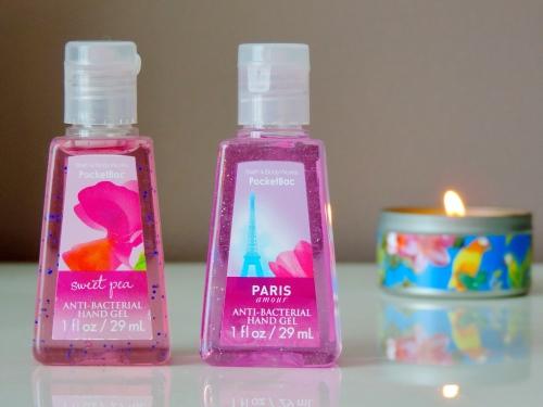 gels antibacteriens bath and body works paris amour sweet pea